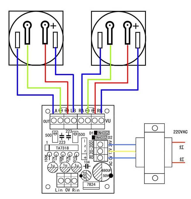vu表电平表驱动电路