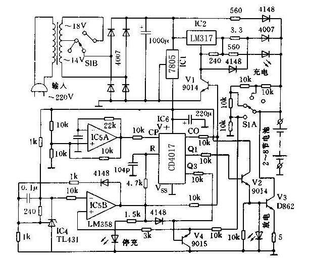 (2)充电器电路原理