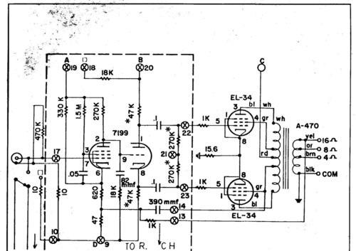 el34推挽三极管接线图