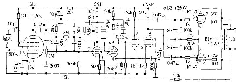 6j1功放前置电路图