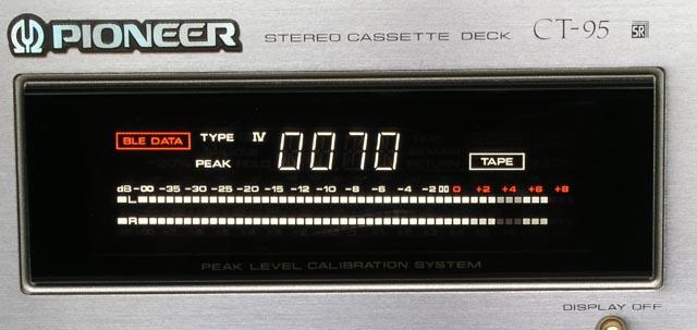 先锋 ct-95 的光带式电平指示器(图片由leonshao提供)
