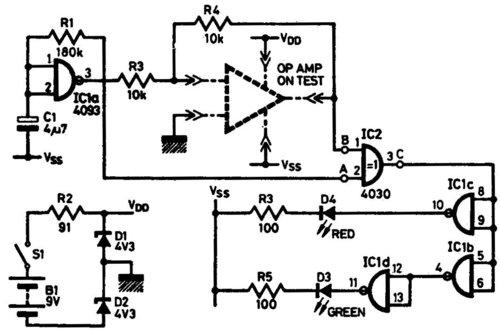 简易运算放大器测试电路