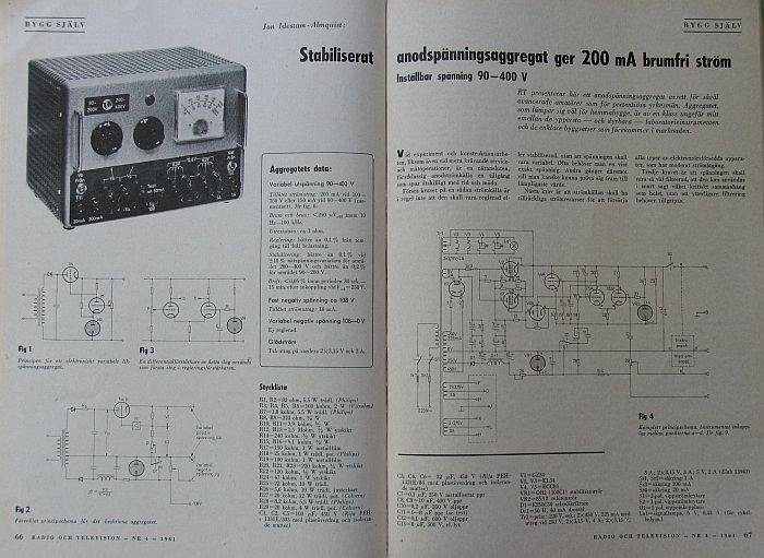 稳压电源输出: 阳极电压: 90-450v 最大 200ma 分两档调整 负压