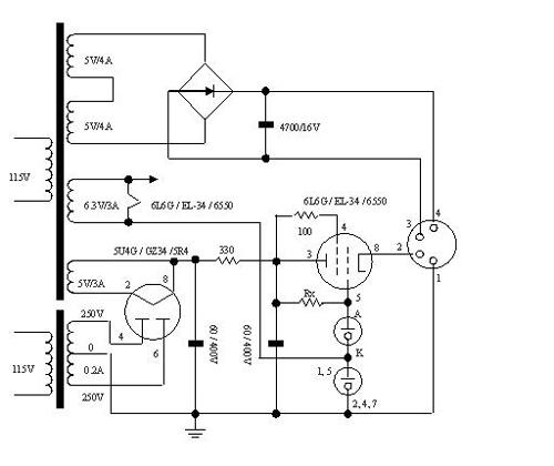 86音响音量调节器接线图
