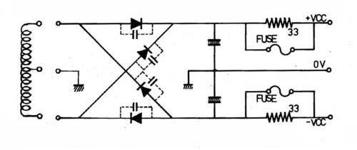 桥式整流部分之四个二极管均