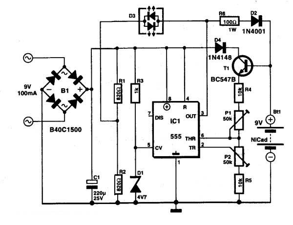 9v镍镉电池充电器