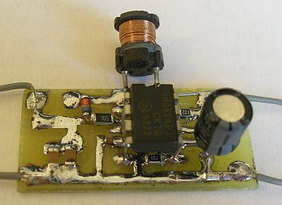 mc34063的升压电路实物图