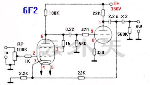 用6f2打造电子管前级